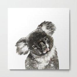 Baby Koala Metal Print