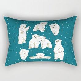 Cute Polar Bear Cubs Rectangular Pillow