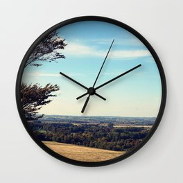 Tree on a hill Wall Clock