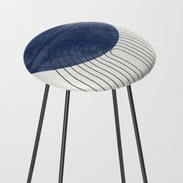 Blue Perfect Balance Counter Stool
