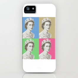 God Save The Queen x 4 iPhone Case
