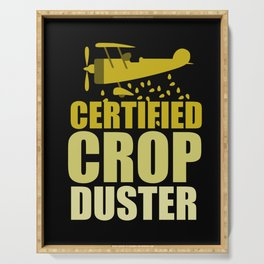 Crop Duster Farmer Farming Gift Serving Tray