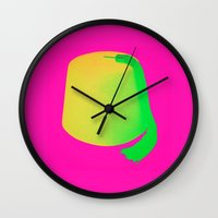 fez Wall Clocks featuring A Fez Hat is Cool by City Gypsy