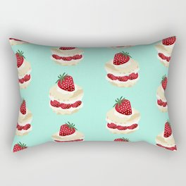 Fruit Shortcake dessert food apparel and gifts food fight mint Rectangular Pillow