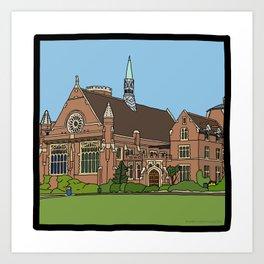 Cambridge struggles: Homerton College Art Print