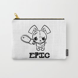 Epic Grumpy Voodoo Bunny Cute Bigfoot Monsters Carry-All Pouch