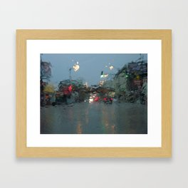 Lincoln/Wrightwood in the Rain Framed Art Print