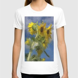 An Impression Of Sunflowers In The Sun T-shirt