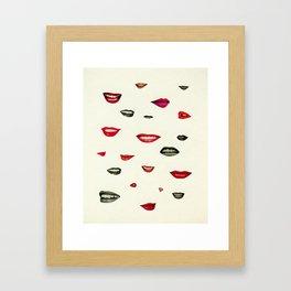 Stealing Kisses Framed Art Print