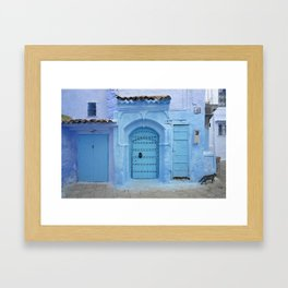 Street Scene, Chefchaouen (Morocco) Framed Art Print