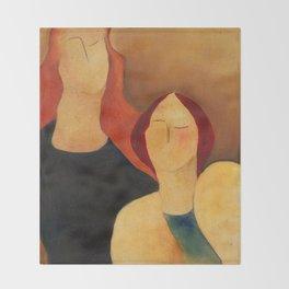 Two women Throw Blanket