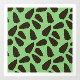 Tree Patterns: Bright Green Pinecones Art Print