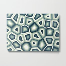 Hypnose bleue Metal Print