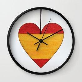 spain flag, flag of spain Wall Clock