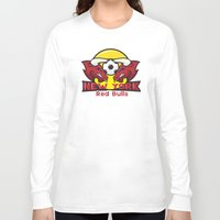 chicago bulls Long Sleeve T-shirts featuring Red Bulls by Mountain Top Designs