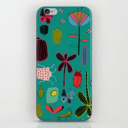 bugs and insects green iPhone Skin