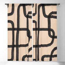 abstrait IV Blackout Curtain