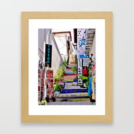Colorful Stairs Framed Art Print