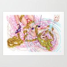 Goldilock Suicide Art Print