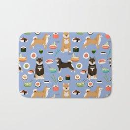 Shiba Inu noodles pho food cute dog art sushi dogs pet portrait pattern Bath Mat