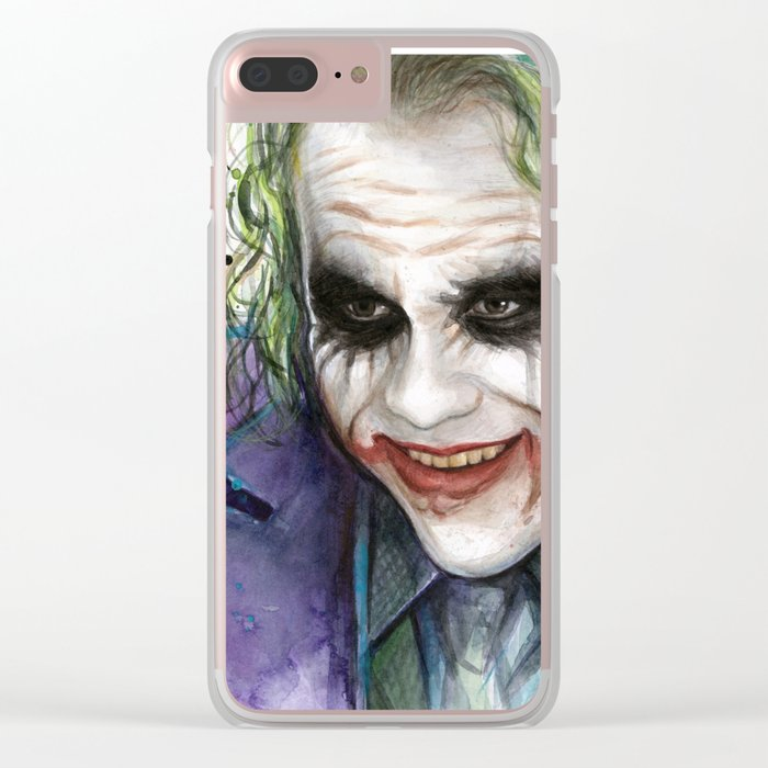 Joker Why So Serious Watercolor Clear iPhone Case
