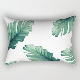 Tropical Banana Leaves Dream #5 #foliage #decor #art #society6 Rectangular Pillow