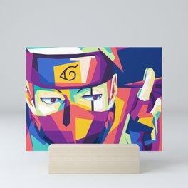 WPAP Hatake  in popart Mini Art Print