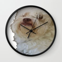 Grumpy Terrier Dog Face Wall Clock