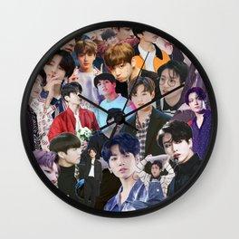 Jungkook BTS collage Wall Clock