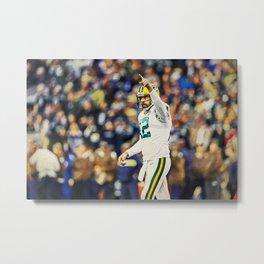 Packers Aaron Rodgers Metal Print
