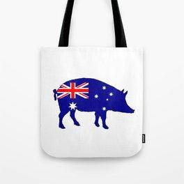 Australian Flag - Pig Tote Bag