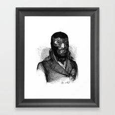 Wrestling mask Framed Art Print