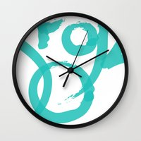 brooklyn Wall Clocks featuring Brooklyn by Pamalope