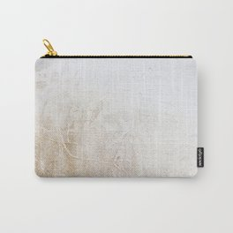 Gold Glitter Detail Carry-All Pouch