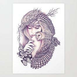 Owl Spirit Art Print