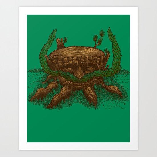 Stumpystache Art Print