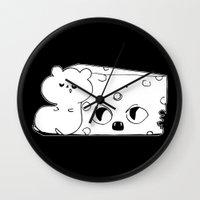 rat Wall Clocks featuring ▴ rat ▴ by PIXIE ❤︎ PUNK