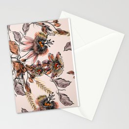 Tropical drawings of pasiflora flowers Stationery Cards