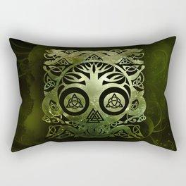 Tree of life - Yggdrasil  and celtic animals Rectangular Pillow