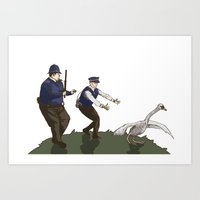 hot fuzz Art Prints featuring Hot Fuzz  by margaw