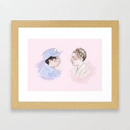 The Gran hotel Budapest Lovers Framed Art Print