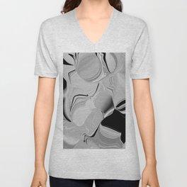 abstract in hazy grays Unisex V-Neck