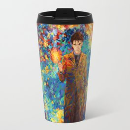 10th Doctor with screwdriver abstract art Travel Mug