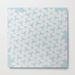Light Blue Petals Metal Print
