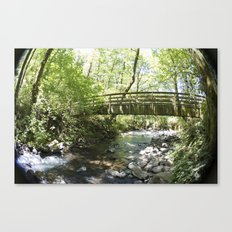 Bridal Veil Falls OR Forest Bridge Canvas Print