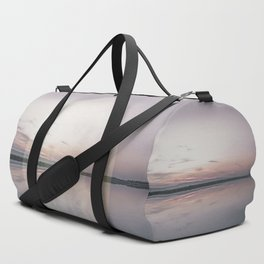 Surreal Moon Over Calm Waters Duffle Bag