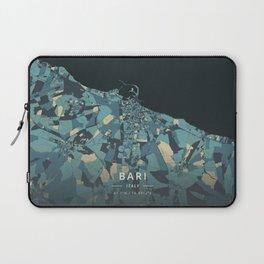 Bari, Italy - Cream Blue Laptop Sleeve