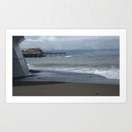Sea and pier Art Print