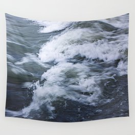 Waves of Harvey's Passage, Bow River Calgary Alberta  Wall Tapestry