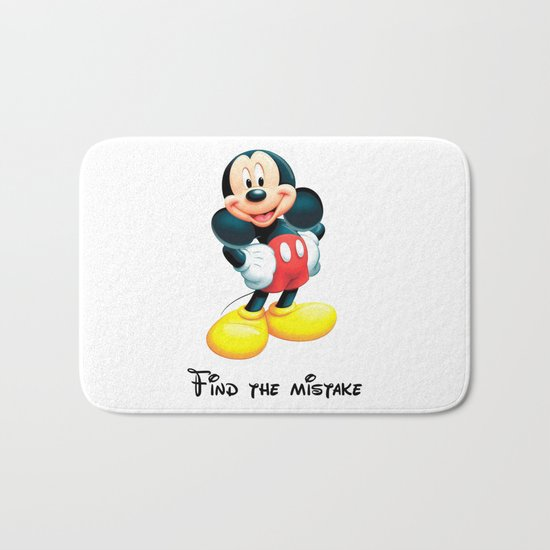 Find the mistake - Mickey Bath Mat